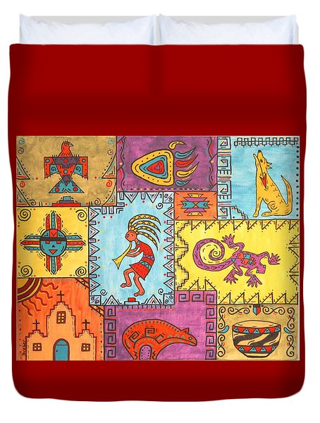 Southwest Sampler Duvet Cover
