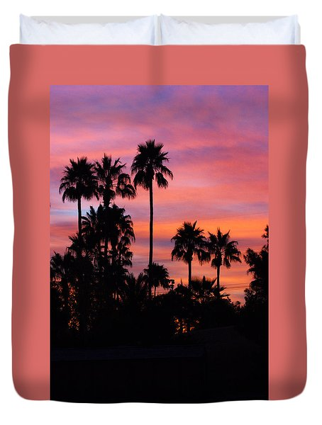 Duvet Cover featuring the photograph Southwest Sunrise by Ruth Jolly