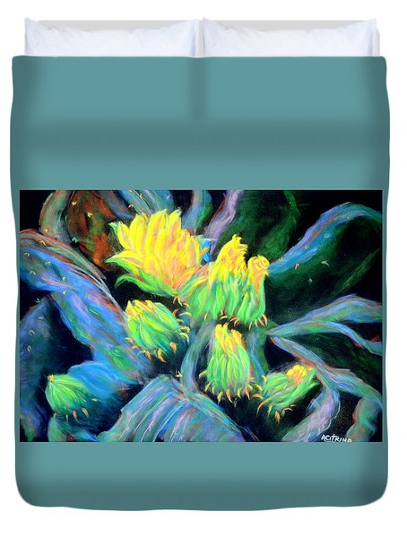 Southwesterly Cactus Impression Of.....sold Duvet Cover