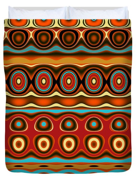 Southwestern Colors Pattern Duvet Cover by Jessica Wright