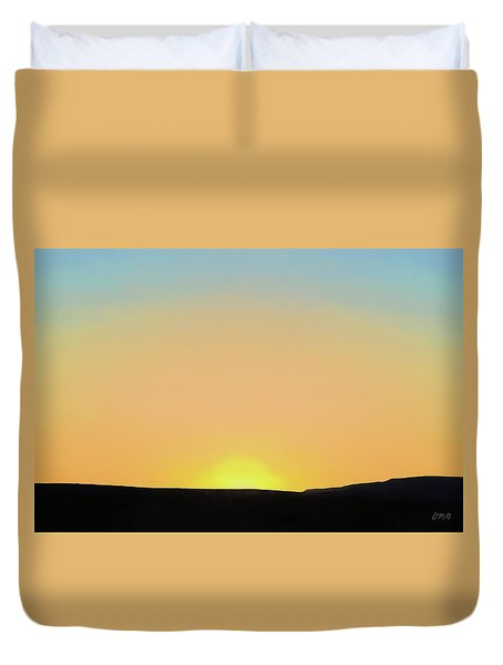 Duvet Cover featuring the photograph Southwestern Sunset by David Gordon