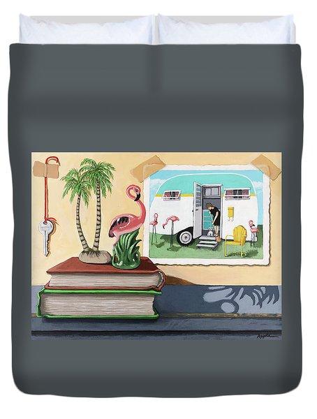 Souvenir Memories - Still Life Original Painting Duvet Cover