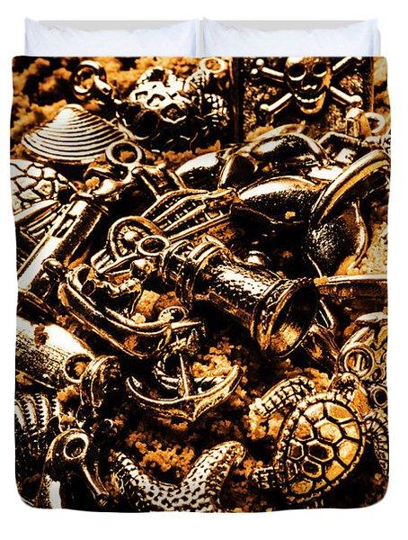 Souvenirs From Sandy Sea Tours Duvet Cover