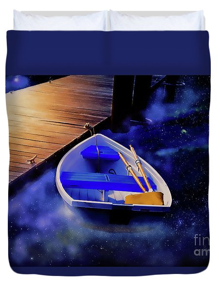 Space Boat Duvet Cover