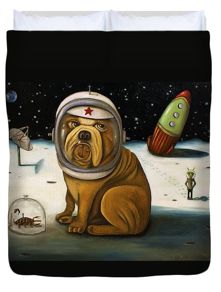 Space Crash Duvet Cover by Leah Saulnier The Painting Maniac