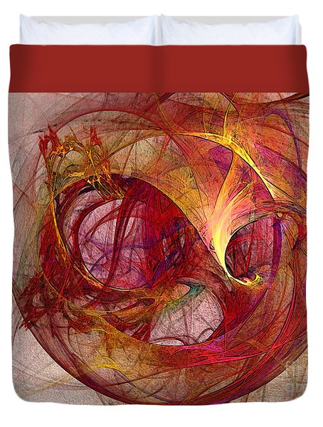Space Demand Abstract Art Duvet Cover