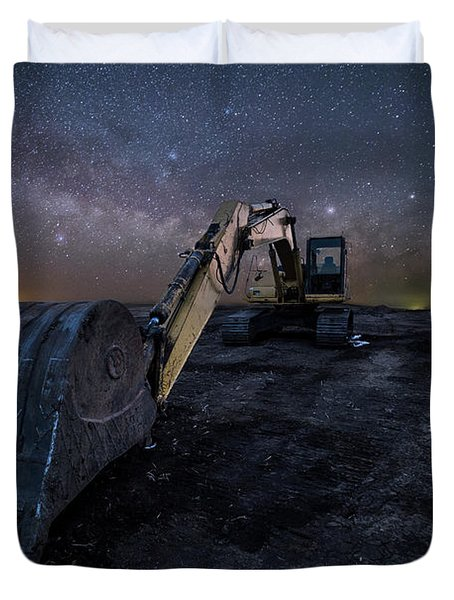 Space Excavator  Duvet Cover