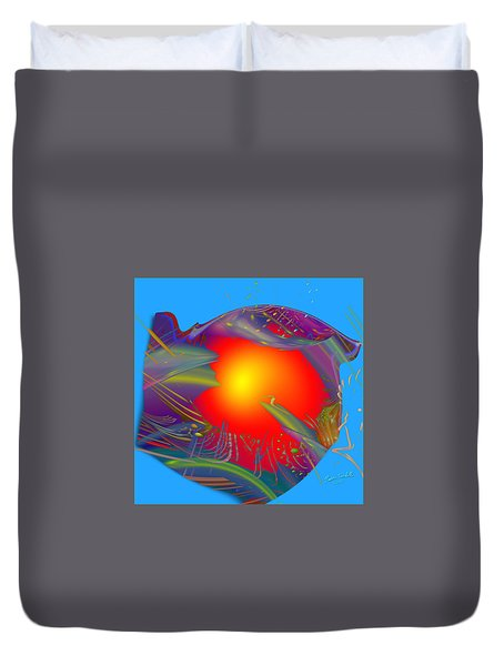 Space Fabric Duvet Cover by Kevin Caudill