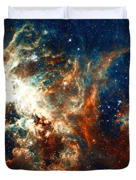 Space Fire Duvet Cover by Jennifer Rondinelli Reilly - Fine Art Photography