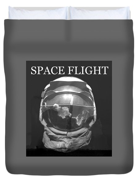 Duvet Cover featuring the photograph Space Flight by David Lee Thompson