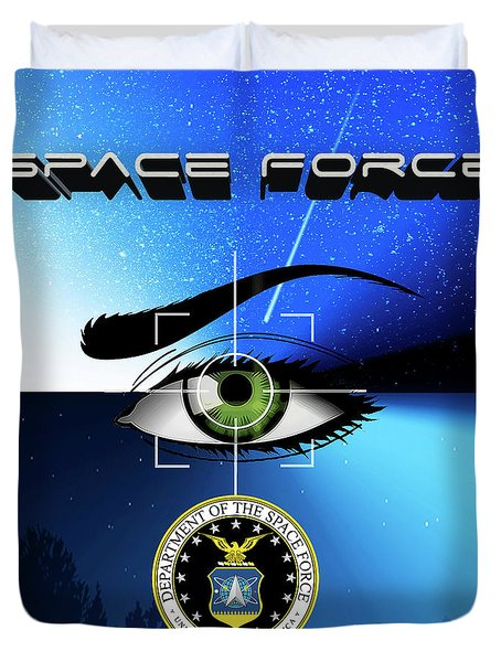 Space Force Duvet Cover