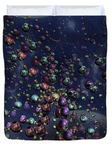 Space Geometry Duvet Cover