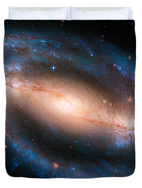 Space Image Barred Spiral Galaxy Ngc 1300 Duvet Cover