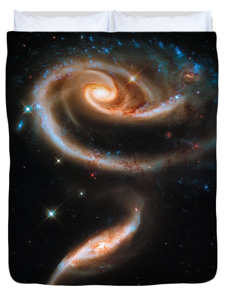 Space Image Galaxy Rose Duvet Cover