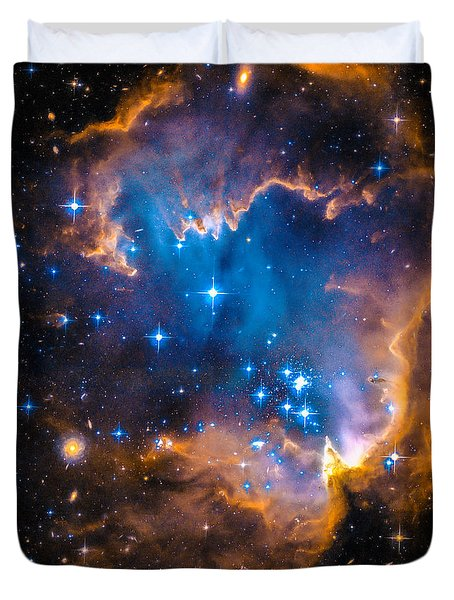 Space Image - New Stars And Nebula Duvet Cover