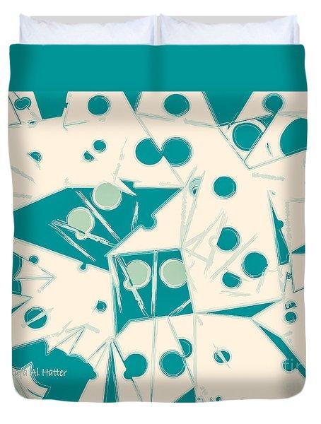 Space-time Duvet Cover by Moustafa Al Hatter