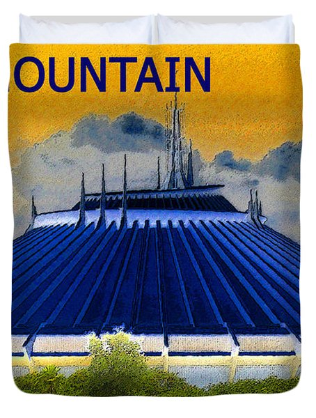 Space Mountain Duvet Cover by David Lee Thompson
