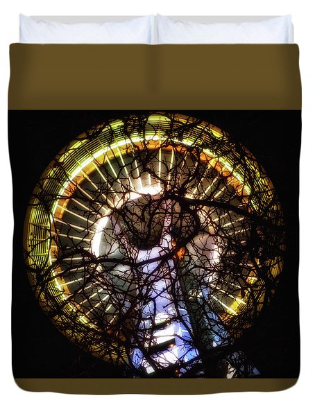 Space Needle Night Duvet Cover