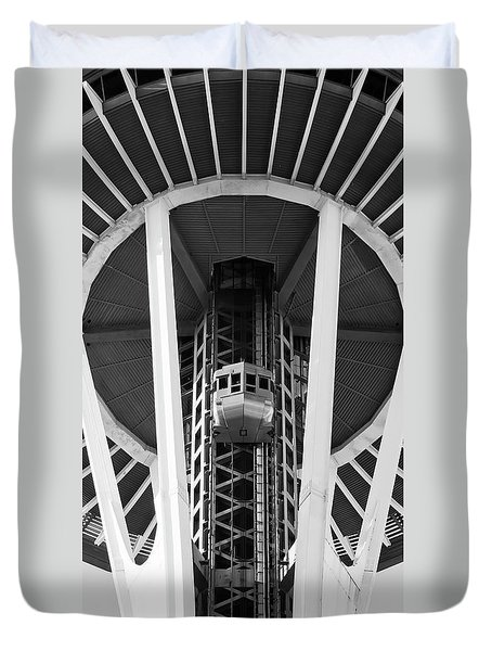 Duvet Cover featuring the photograph Space Needle Seattle by Chris Dutton