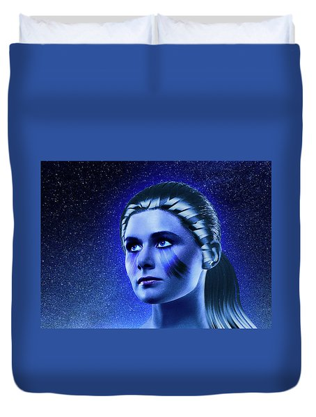 Space Odyssey Duvet Cover by Scott Meyer