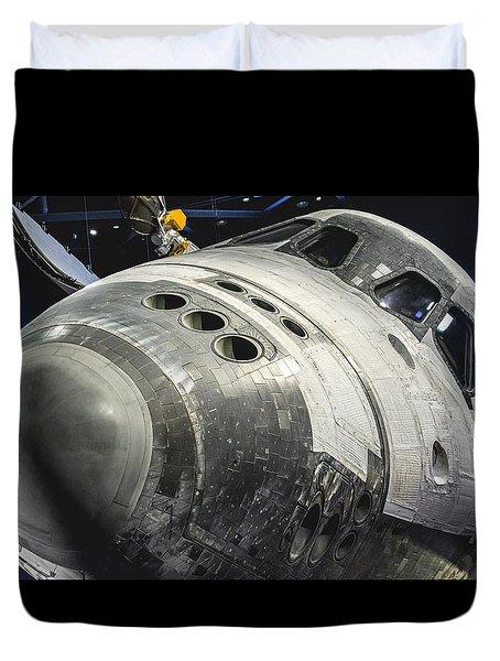 Space Shuttle Atlantis Duvet Cover by David Collins