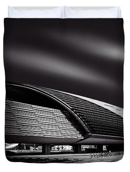 Dubai Metro Station Mono Duvet Cover