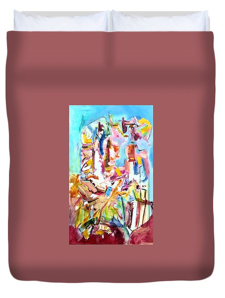Space Talkers Duvet Cover