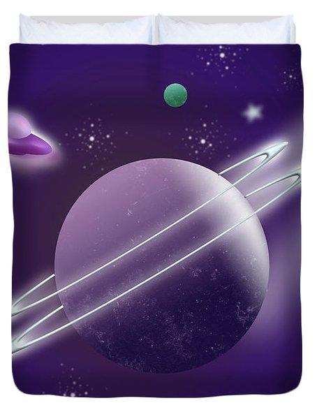 Space Travel Duvet Cover