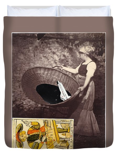 Spaced Inside Collage                                Duvet Cover
