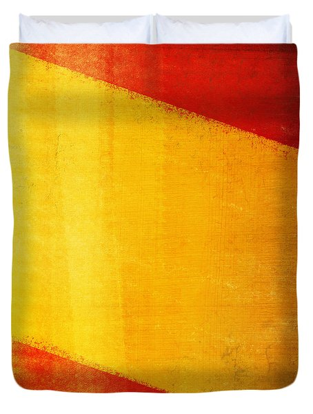 Spain Flag Duvet Cover by Setsiri Silapasuwanchai