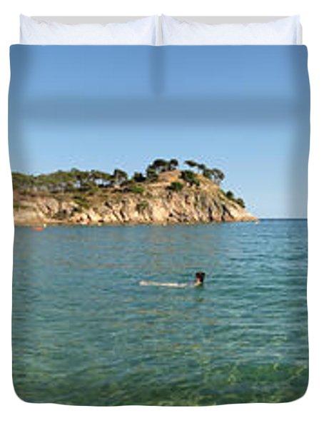 Spanish Beach Seascape Duvet Cover
