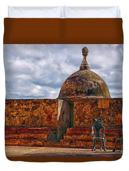 Spanish Colonial Architecture Duvet Cover