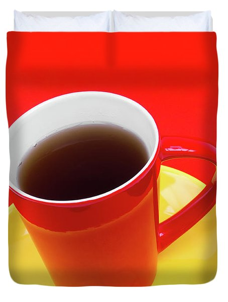 Spanish Cup Of Coffee Duvet Cover by Wim Lanclus