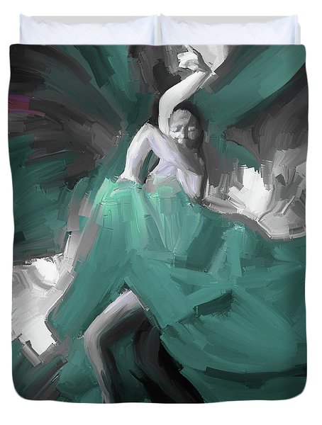 Duvet Cover featuring the painting Spanish Dance Art 56yt by Gull G