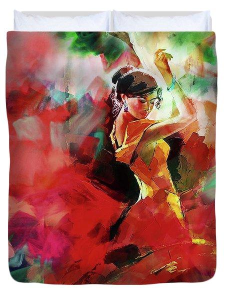 Spanish Dance Duvet Cover