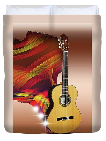 Spanish Guitar Duvet Cover
