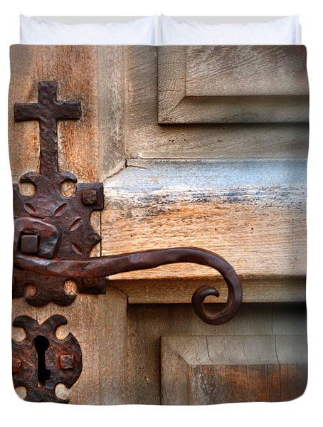 Spanish Mission Door Handle Duvet Cover