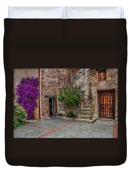 Spanish Mission's Back Entrance.  Duvet Cover