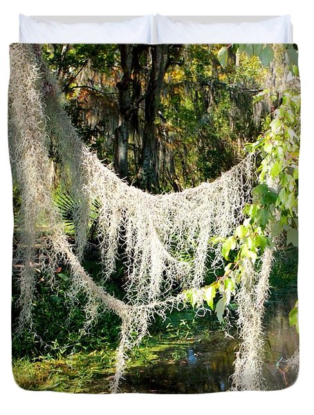 Spanish Moss Over The Swamp Duvet Cover by Carol Groenen