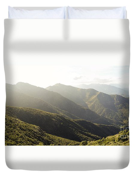spanish mountain range, Malaga, Andalusia, Duvet Cover