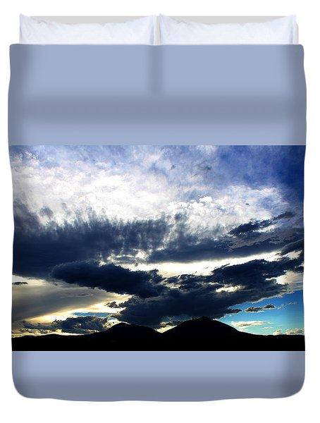Spanish Peaks Duvet Cover by Silke Brubaker