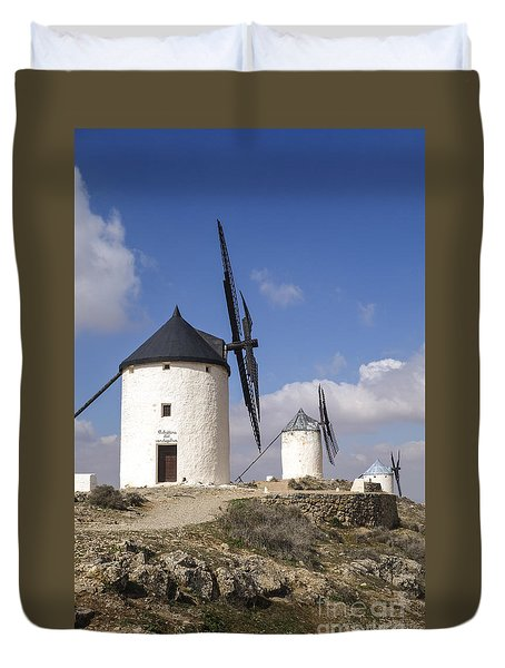 Spanish Windmills In The Province Of Toledo, Duvet Cover