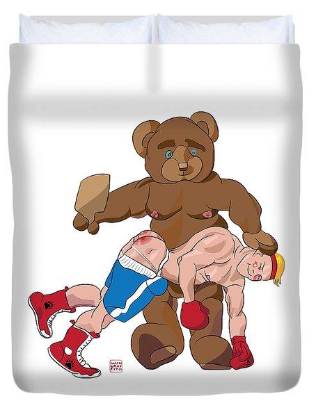 Spanking Bear Duvet Cover