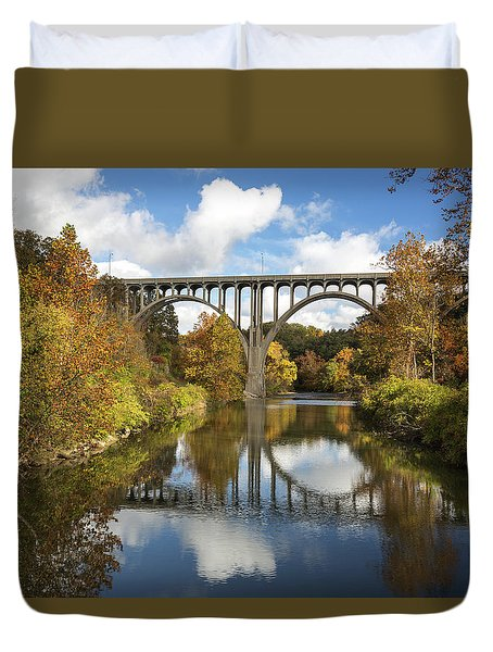 Spanning The Cuyahoga River Duvet Cover