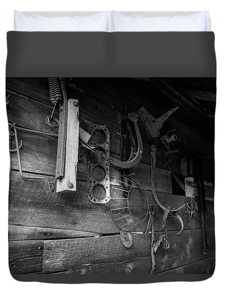 Duvet Cover featuring the photograph Spare Parts by Doug Camara
