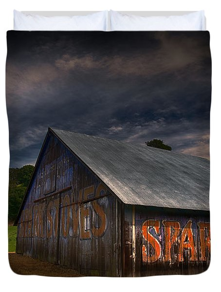 Spark Stoves Barn Duvet Cover