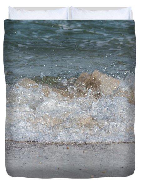 Sparking Ocean Wave Jersey Shore Duvet Cover