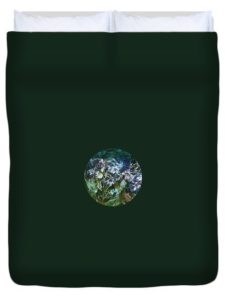 Duvet Cover featuring the painting Sparkle In The Shade by Mary Wolf