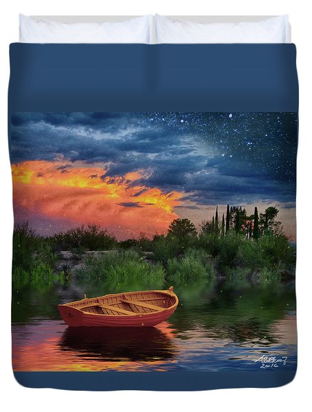 Sparkle Pond Duvet Cover