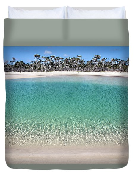 Sparkling Beach Lagoon On Deserted Beach Duvet Cover